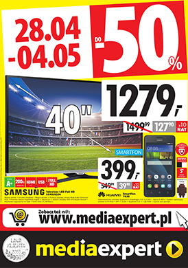 Gazetka promocyjna Media Expert - Do -50%