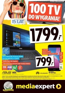 Gazetka promocyjna Media Markt - 100 TV do wygrania!