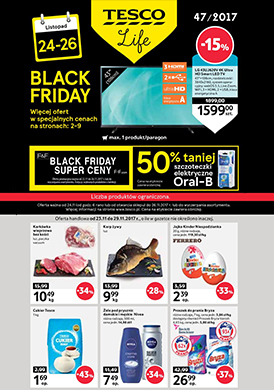 Gazetka promocyjna Tesco Hipermarket - Black friday